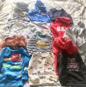 Huge Bundle Of Baby Boy Jumpers/Hoodies 18-24 Months M AND S GAP ASDA