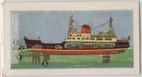 Dual Purpose Car and Passenger Ferry  Vintage Trade Ad Card
