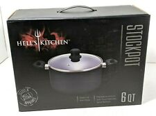 HELL'S KITCHEN~ 6 Qt Stockpot ~ Non-Stick ~ Glass Lid ~ Spiral Bottom ~ NIB