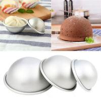 3D Aluminium Ball Sphere Cake Mould Half Round Hemisphere Pan DIY Baking Tools