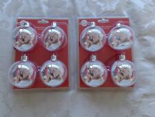 Pack of 8 Personalised Christmas Baubles With Photo Insert
