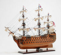 "HMS Victory Lord Nelson's Flagship Wood Tall Ship Model 37"" Built Boat New"