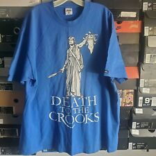 Crooks And Castles Men's T Shirt Death To The Crooks Blue White XL Extra Large