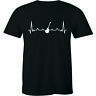 Musical Notes Heartbeat Pulse Shirt Love Guitar Music Musician Gift Men's Tee