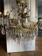 More details for large antique crystal chandelier