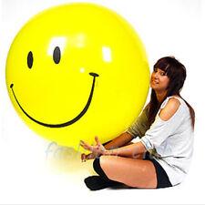 "36"" Jumbo YELLOW SMILEY FACE Round Smile Latex Balloon Birthday Party Decoration"