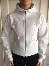 LULULEMON Size 4 Scuba Hoodie Fleece Jacket Zip Up White Coat