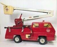 Vtg 1970 Tonka Snorkel Pumper Fire Truck 2950 Aerial Ladder Hoses Pressed Steel