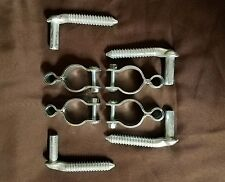 "4 Gate Hinges 1-5/8 - 1-3/4 and 4 Hang Bolts 5/8"" Pin X 4-1/2"" For Farm Gates"