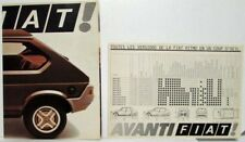 1975 1976 1977 1978 1979 Fiat Ritmo Sales Folder with Spec Sheet - French Text