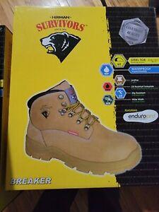 "Herman Survivors Men's Breaker 6"" Waterproof Steel Toe Work Boot Shoe Size: 10.5"