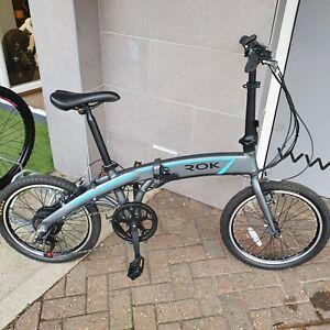 """ROK Folding e-bike lightweight 17kg commuter bike 36V 8.7Ah 310Wh 20"""" wheel UK"""