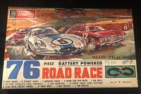 Vintage 1960's Aurora strombecker Cragston Racing Slot Car Set 16 Tracks MIB