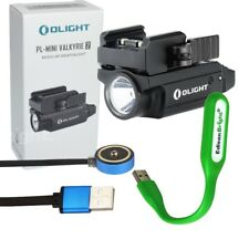 Olight Pl-Mini 2 Valkyrie 600 Lumen Led rechargeable Pistol Light adjust rail Bk