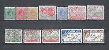 More details for st kitts nevis 1938-50 sg 68a/77f mnh cat £85