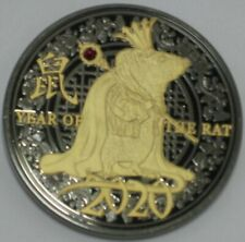 2020 YEAR OF THE RAT CHALLENGE COIN