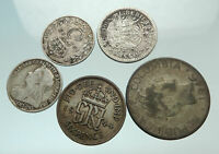 GROUP LOT of 5 Old SILVER Europe or Other WORLD Coins for your COLLECTION i75695