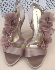 ladies brand new size 6 dorethy perkins shoes with flowers -weddings/christening