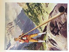 m17a1 ephemera 1920s book plate the alphorn long horn j f campbell