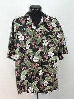 VTG Made Hawaii Hawaiian Shirt Aloha KY's Tropical Hibiscus Matched Floral Tiki