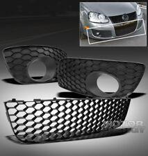 06-09 VW GTI GLI JETTA MK5 BUMPER CENTER GRILLE W/FOG LIGHT COVER HONEYCOMB MESH