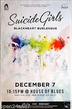 "SUICIDE GIRLS ""BLACKHEART BURLESQUE"" 2014 SAN DIEGO TOUR POSTER - Pin-Up Girls"