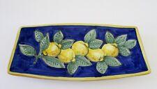 """VIETRI Italy Lemon Decorative Tray Plate 10 1/4"""""""