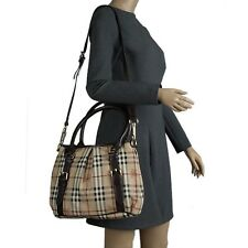 NEW BURBERRY HAYMARKET CHECK BAG NORTHFIELD WOMENS TOTE BLACK