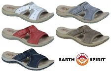 cc1ff6a58c98 Earth Spirit Lakewood Leather Touch Fast Slip On Comfort Sandals NEW SEASON