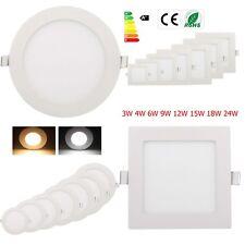 Dimmable LED Recessed Ceiling Panel Down Light Bulbs 3W 4W 6W 9W 12W 15W 18W 24W