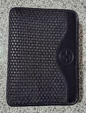 Franklin Covey Black Compact Planner Binder Embossed Basket Weave Six 1 Rings