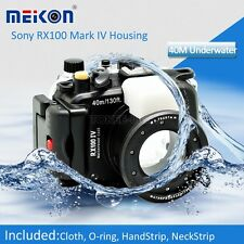 MEIKON Underwater Waterproof case Camera Housing for Sony DSC RX100 IV Mark 4