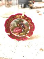 """Limoges Castel France Rare Miniture Collectible Plate 2"""""""