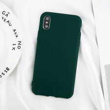For iPhone X Xs Max 8 7 6s Plus Ultra Thin Slim Rubber Soft Silicone Case Cover