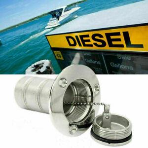 Einfüllstutzen Boot Tankstutzen Benzin Tankverschluss Tankdeckel Edelstahl 38mm