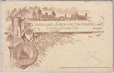 CARTOLINA d'Epoca -  FERRARA:  ILLUSTRATA Centenario GIROLAMO SAVONAROLA 1898