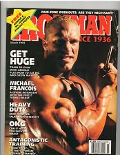 IronMan Bodybuilding fitness muscle magazine/Mike Francois 3-94