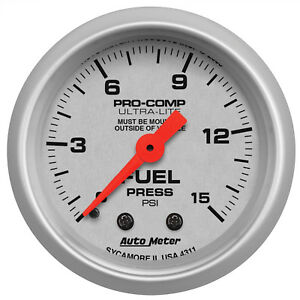 AutoMeter 4311 Ultra-Lite Fuel pressure Gauge  2-1/16 in., Mechanical