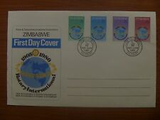 ZIMBABWE First Day Cover ROTARY INTERNATIONAL 1980 - excellent clean example x 3
