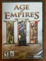 Age Of Empires III  3 Gold Edition PC CD-ROM VIDEO GAME 2002  w/ Box Manual Code
