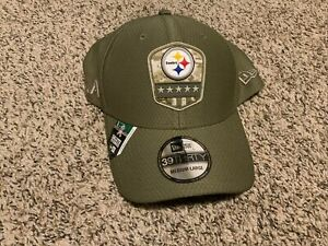 NFL Salute to Service Pittsburgh Steelers Hat New Era 39Thirty Men's Size: M/L