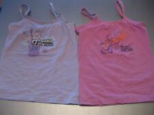 2 pièces Hannah Montana enfants Shirt Aisselles Shirt Top T. 128 Rose U. Lilas