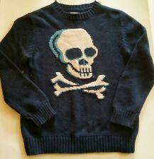 Circo Navy Blue Skull And Crossbones Crew Neck Sweater M 8/10