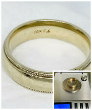 White Gold 14K Frederick Goldman Mens Wedding Band Ring 7.6gm Size 7.5 Not Scrap