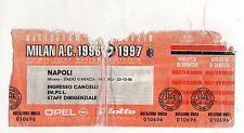 CALCIO   BIGLIETTO  TICKET   MILAN   NAPOLI  CAMPIONATO   20-10-1996