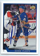 Derek Plante signed 1993-94 Upper Deck card Buffalo Sabres autograph #475
