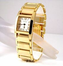 Gold Plated Case Women's Square Wristwatches