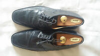 Men's Big Block Black Alligator Shoes by Maury Collection,size 13  pre-owned!
