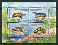 Russia 2017 MNH Turtles 4v M/S Turtle Reptiles Stamps