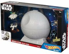 New Deluxe Star Wars Death Star Play Case 4 piece Starship Set by Hot Wheels NIB